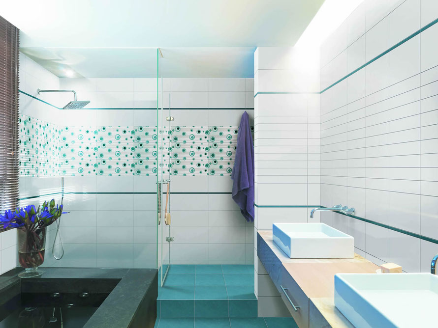 Mattonelle bagno casaeco pavimenti e rivestimenti in ceramica rubinetterie per bagno - Piastrelle bagno effetto mosaico ...