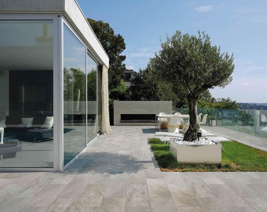 Pavimento effetto pietra casaeco pavimenti e for Pavimento esterno effetto pietra