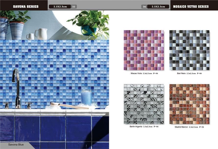 Mosaico casaeco pavimenti e rivestimenti in ceramica rubinetterie per bagno piastrelle effetto - Mosaico vetro bagno ...