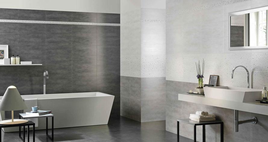 Mattonelle bagno casaeco pavimenti e rivestimenti in ceramica rubinetterie per bagno - Rivestimento bagno moderno ...