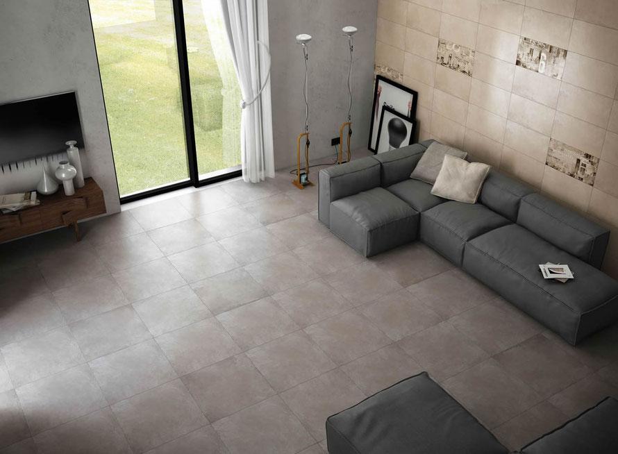 Serie Cement 60x60 colore tortora