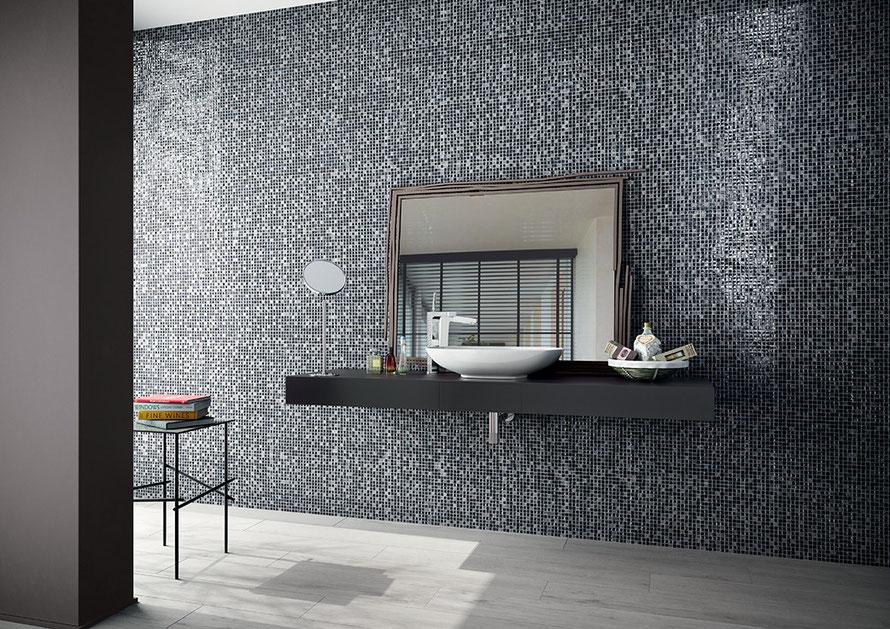 Bagno Con Mosaico Nero : Mosaico casaeco pavimenti e rivestimenti in ceramica