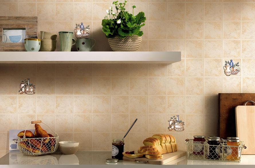 Rivestimenti cucina un 39 arte infinita casaeco pavimenti e rivestimenti in ceramica - Mosaico rivestimento cucina ...
