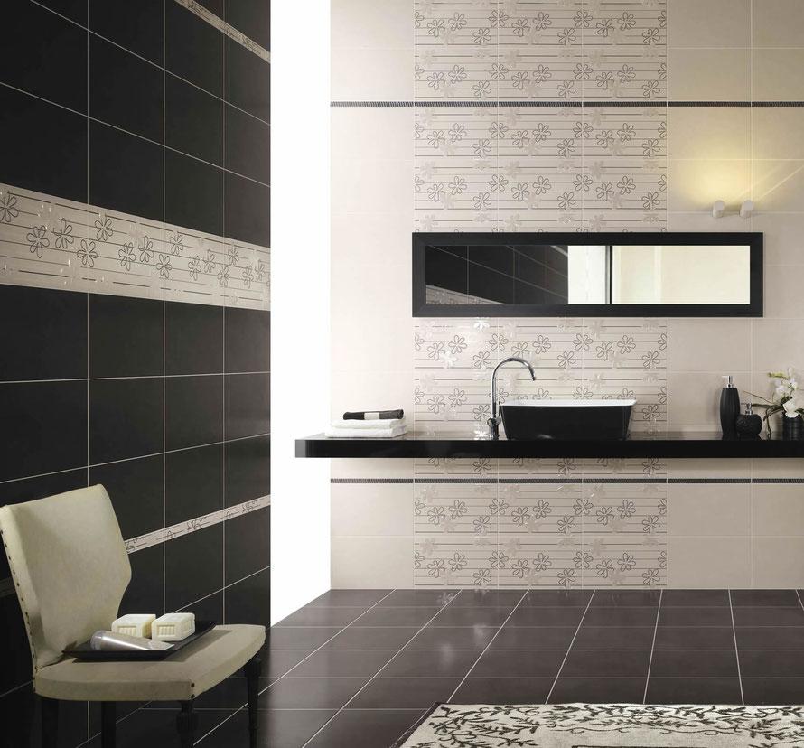 La collezione Time definisce lo spazio con semplice eleganza. Il decoro floreale stilizzato è studiato per un'installazione a fascia, dando vita in questo modo ad un ambiente dal gusto ricercato.
