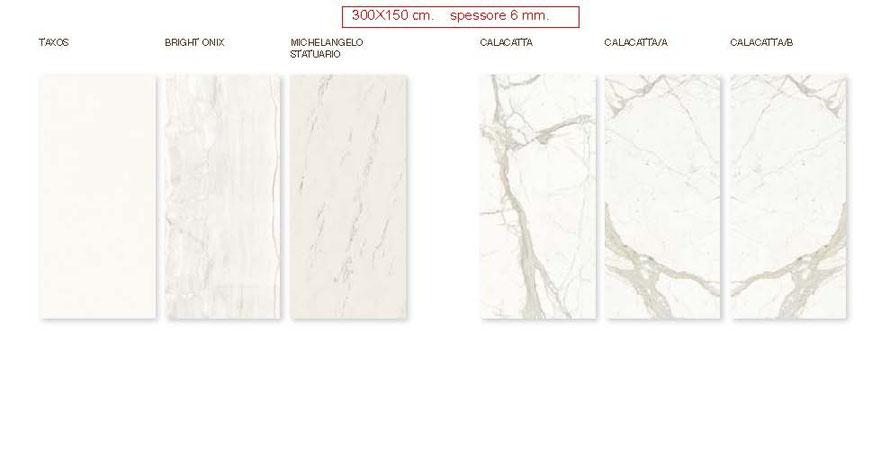 Gres porcellanto misura cm. 300x150  spessore mm.6  levigato lucido  scelta commerciale.
