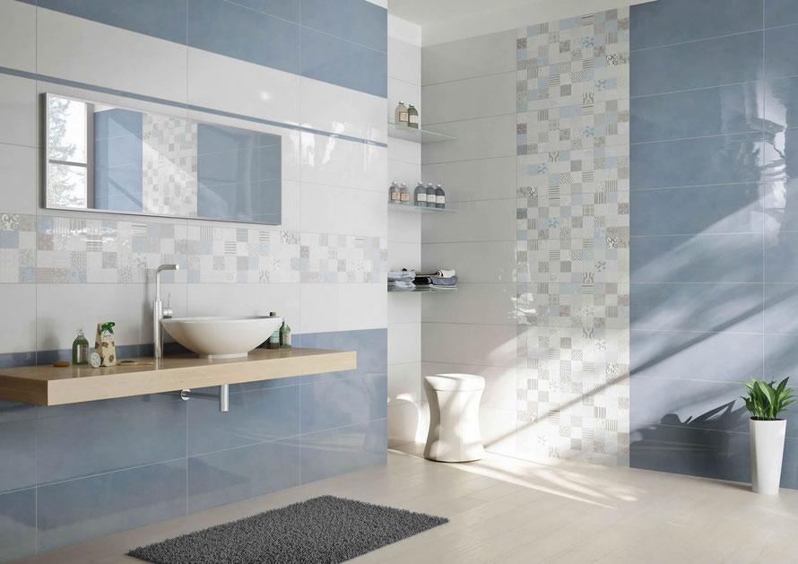 Mattonelle bagno casaeco pavimenti e rivestimenti in for Piastrelle bagno mosaico grigio
