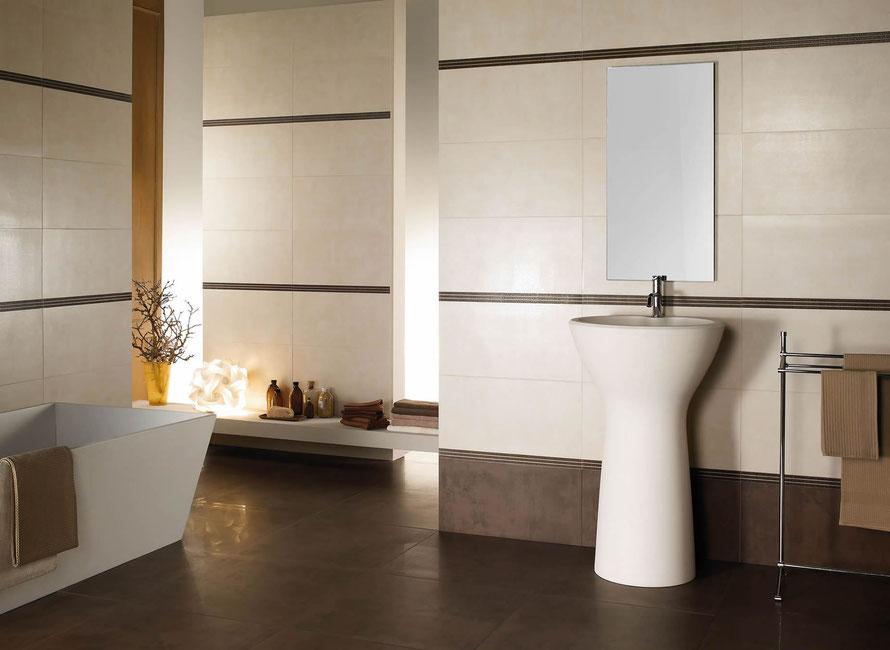 Moderno casaeco pavimenti e rivestimenti in ceramica - Finitura piastrelle bagno ...
