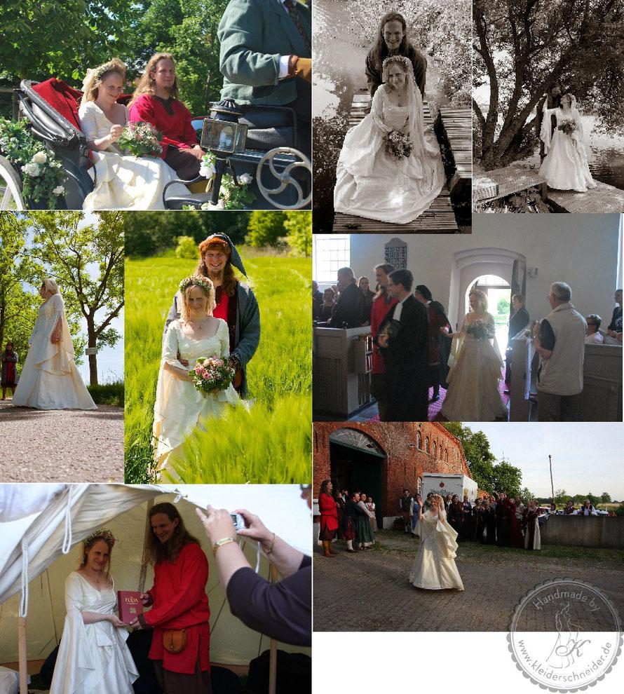 Mittelalterhochzeit, Brautgewand, Mittelalterkleid, Mittelaltergewand