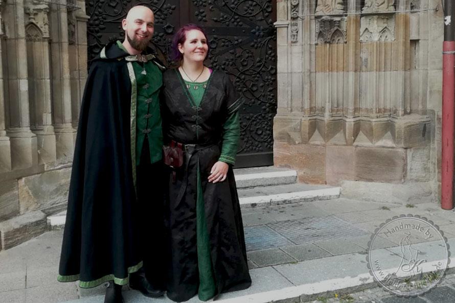 mittelalterliche Hochzeit, Hochzeitsgewand, Brautkleid, Brautgewand, Gewandung, Mittelalterkleid