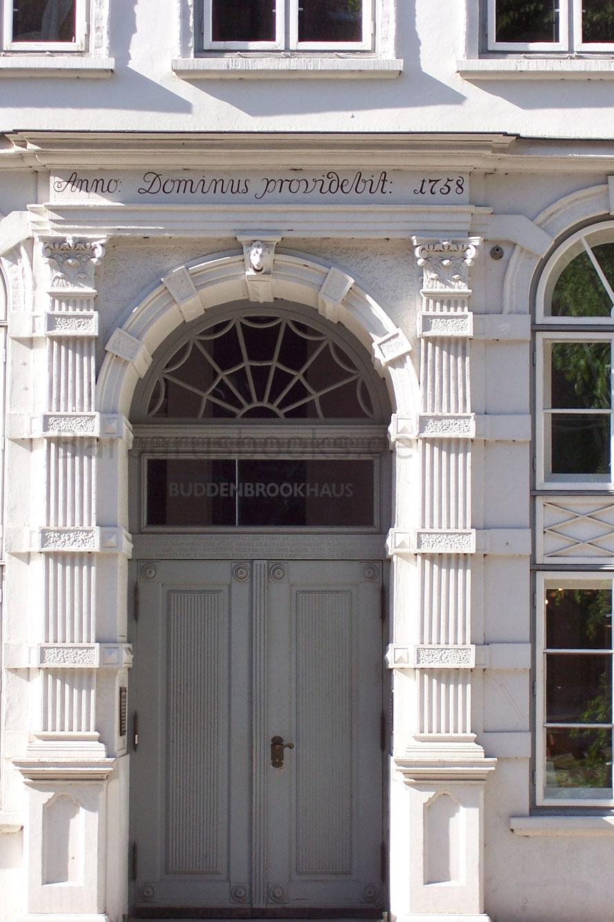 Detailansicht der Tür des Buddbrockhaues 1758