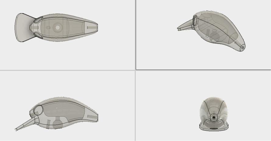*3Dプリント用の設計です(一体成形・ヒートン仕様)