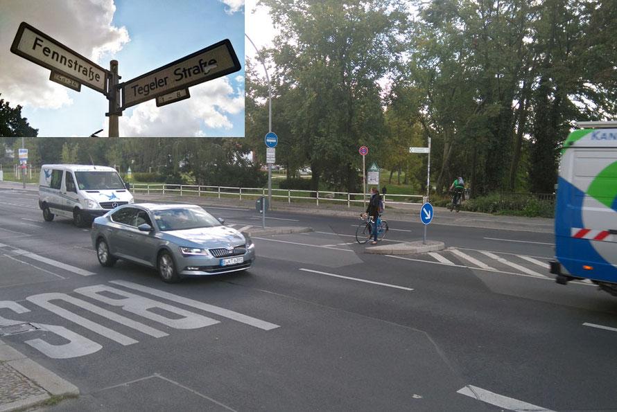 Beispiel: Am Fahrradweg Mitte-Spandau fehlen diverse sichere Übergänge. An der Fennstraße würde sich bei Tempo 30km/h ein Zebrastreifen anbieten.