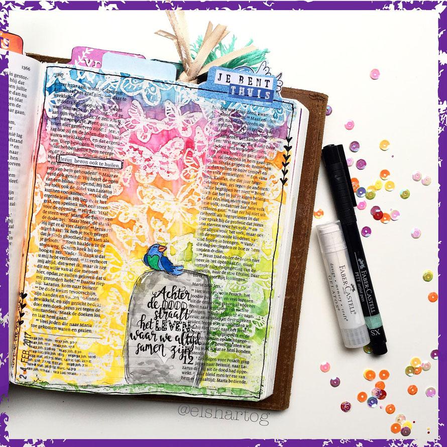 Biblejournaling voorbeeld johannes 11