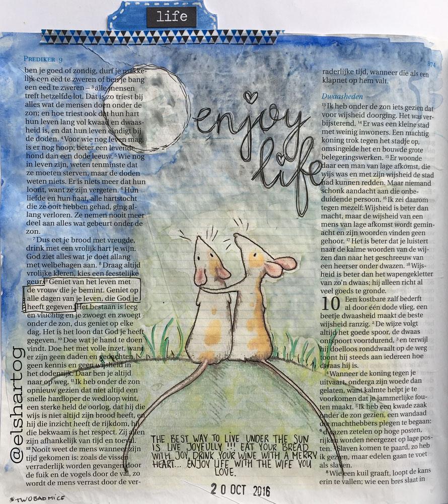 Biblejournaling Prediker 9:9