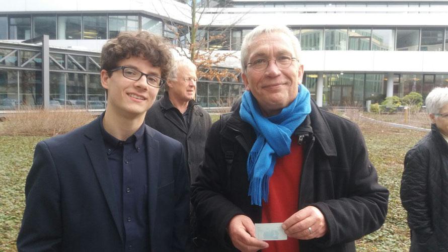Sebastian Wells (links) und der VdSBB-Vorsitzende Hanns Ostermann
