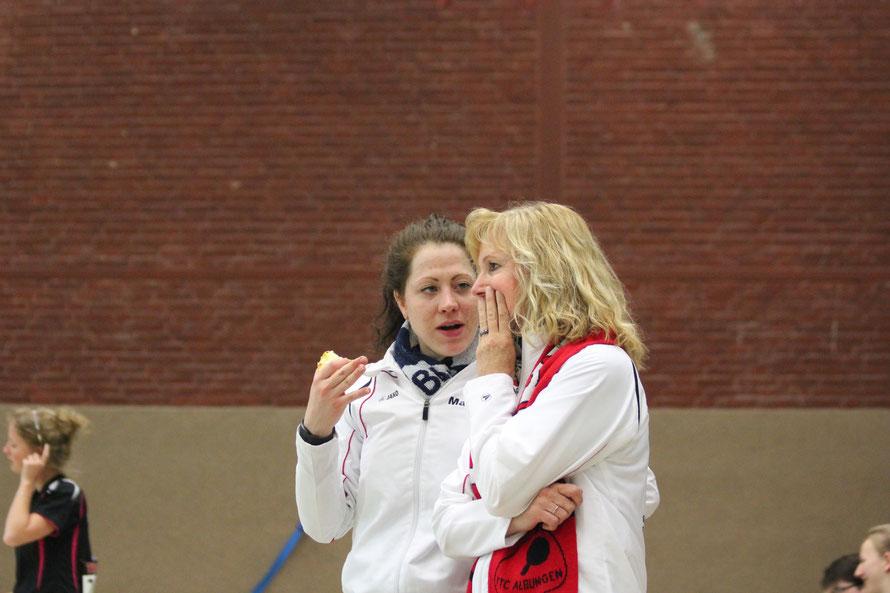 Wollen ihre Titel bei den Kreismeisterschaften verteidigen: (von links) Martina Becker und Christa Beck.