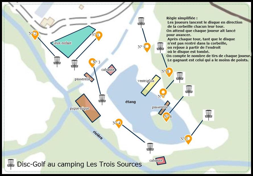 Camping Les Trois Sources Vallees Lot Dordogne - Disc Golf