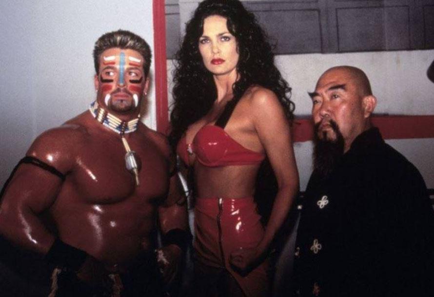 mit Julie Strain und Wrestler Buff Bagwell.....was ein Trio