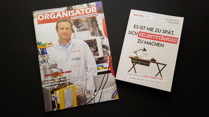 """Ganzseitiger Gastbeitrag im ORGANISATOR Nr. 10/20: """"Es ist nie zu spät, sich selbstständig zu machen"""" © Bellone Franchise Consulting GmbH"""