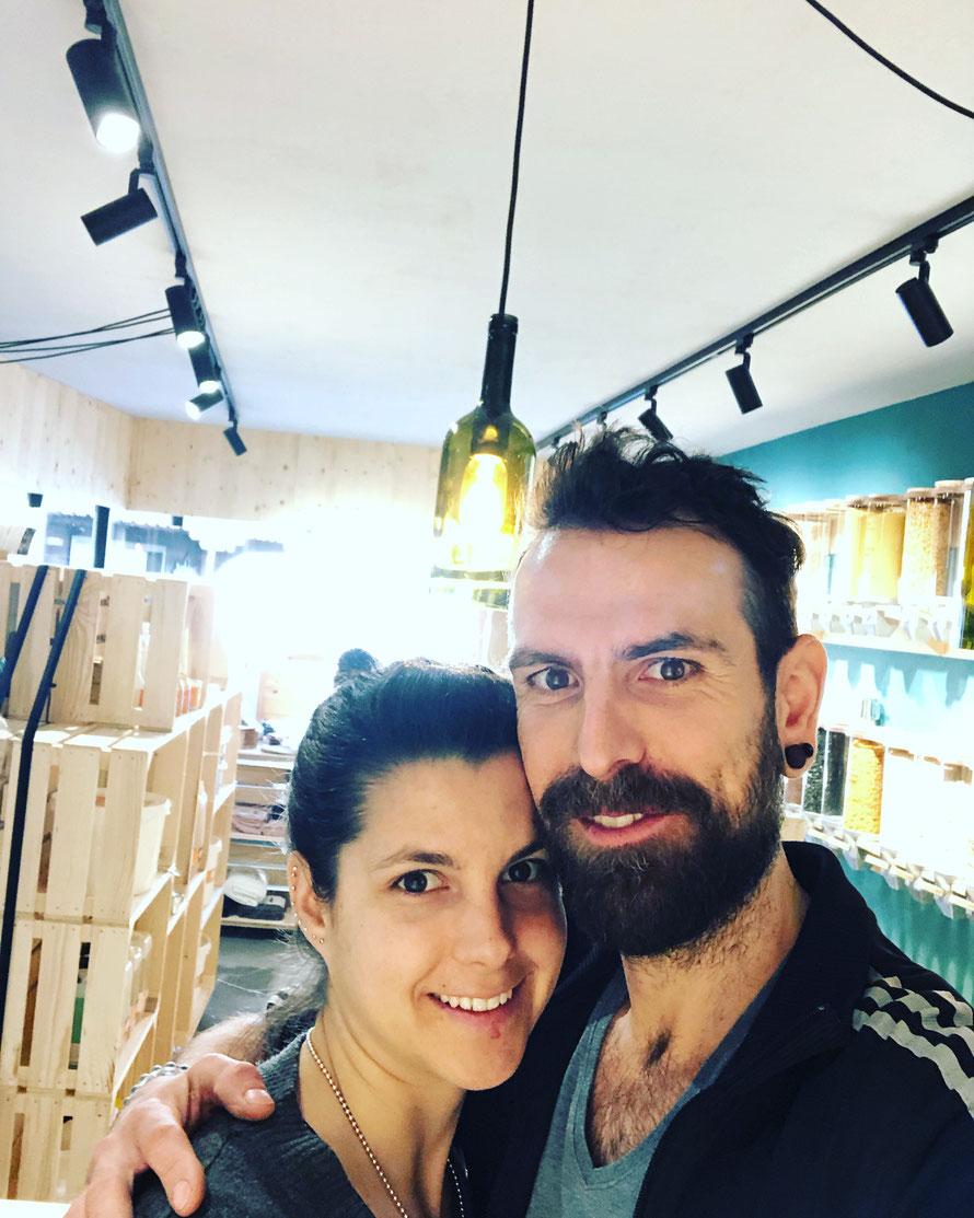Valeria und Pascal am letzten Tag vor der Eröffnung © na_le GmbH 2019