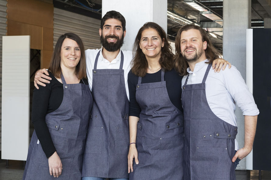 Zürichips-Team (l-r): Lucie Rejman, Enrico Fantini, Monica Cipelletti, Paolo Marioni © Credit Eliane Duerst