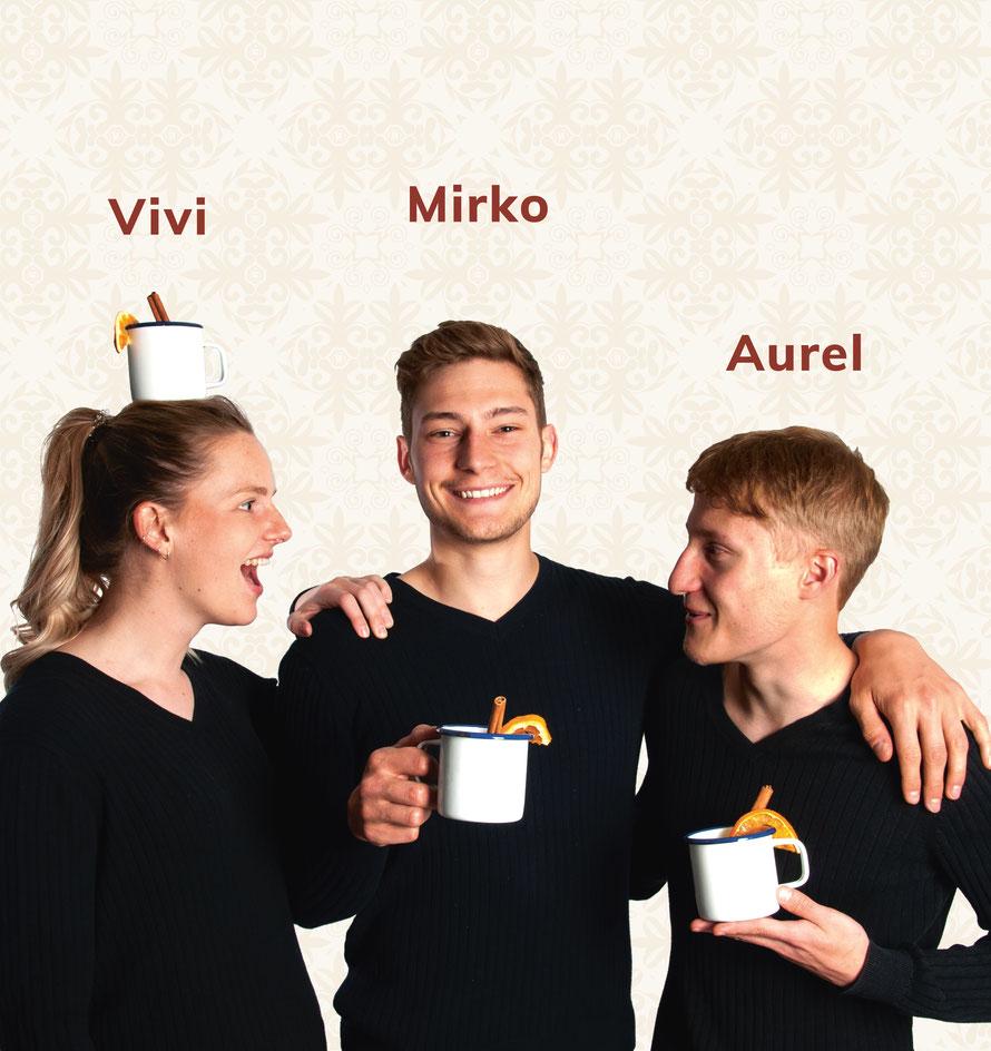 Vivi, Mirko und Aurel, Gluehweinwerk.ch © Gluehweinwerk.ch KGL