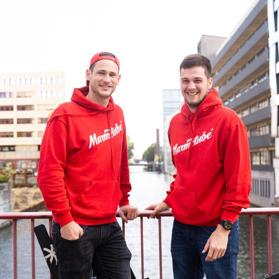 Geschäftsführer Daniel Hutschenreuter und Max Ehmig © Marmetube GmbH