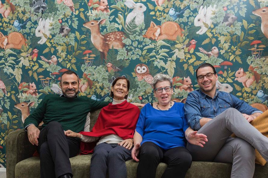 Maurizio, Mamma Lina, Mamma Luisa, Cemal (v.l.n.r.) © PPura GmbH