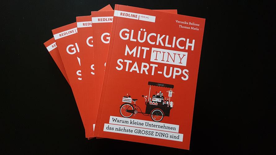 """Glücklich mit Tiny Start-ups"", Bellone/Matla, Redline Verlag 2019 © Bellone Franchise Consulting GmbH"
