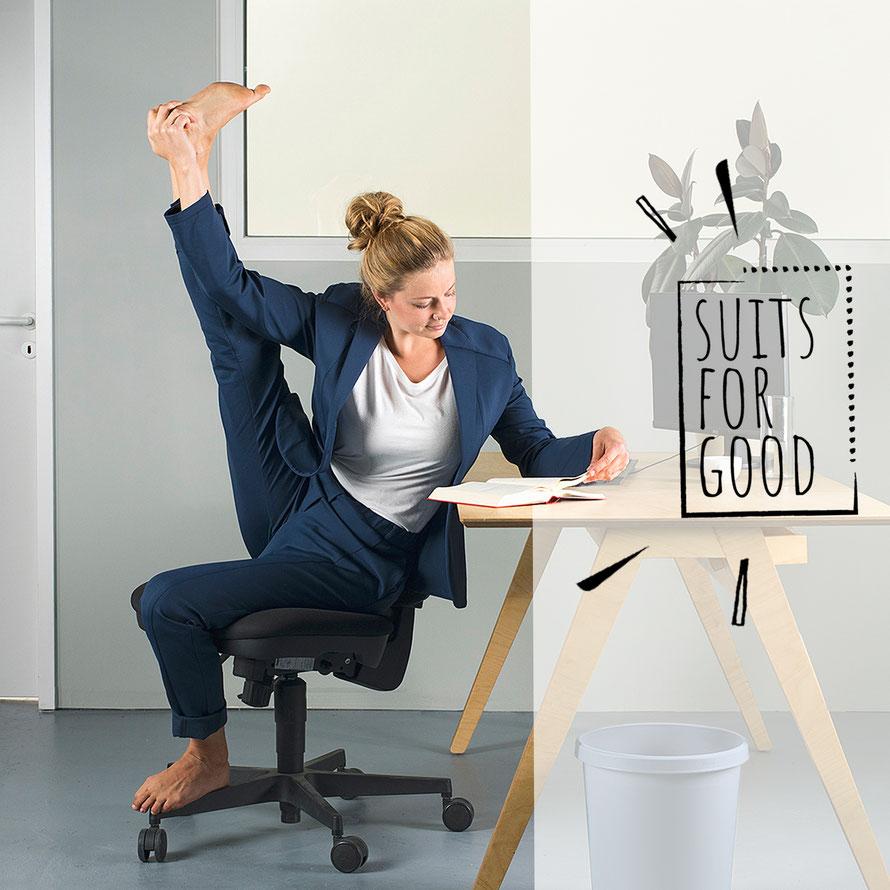 Photo: Luca Abbiento Model: Anna Schwarz @alphaomegayoga © Suits For Good