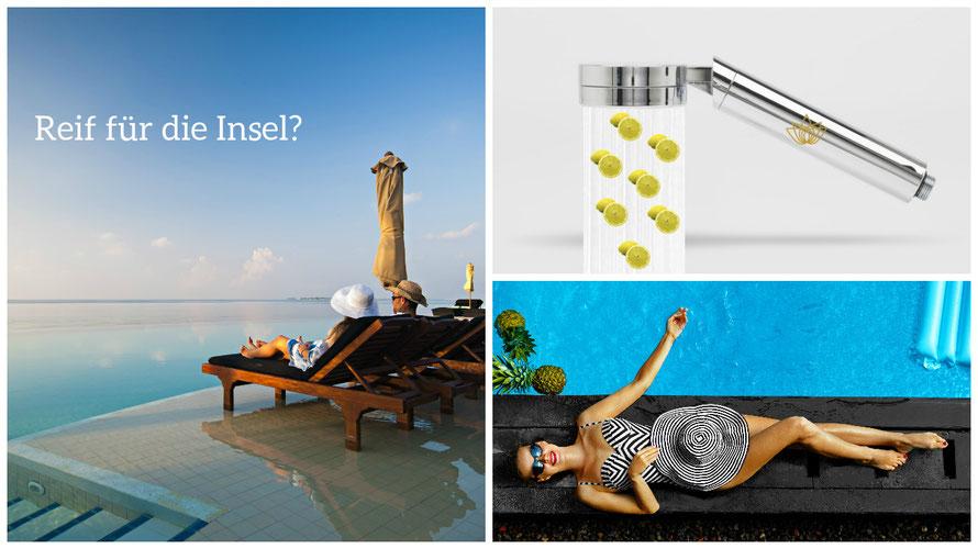 Moodboard: Aroma-Wellness-Dusche-Urlaub © Aroma Sensation Solutions B.V.