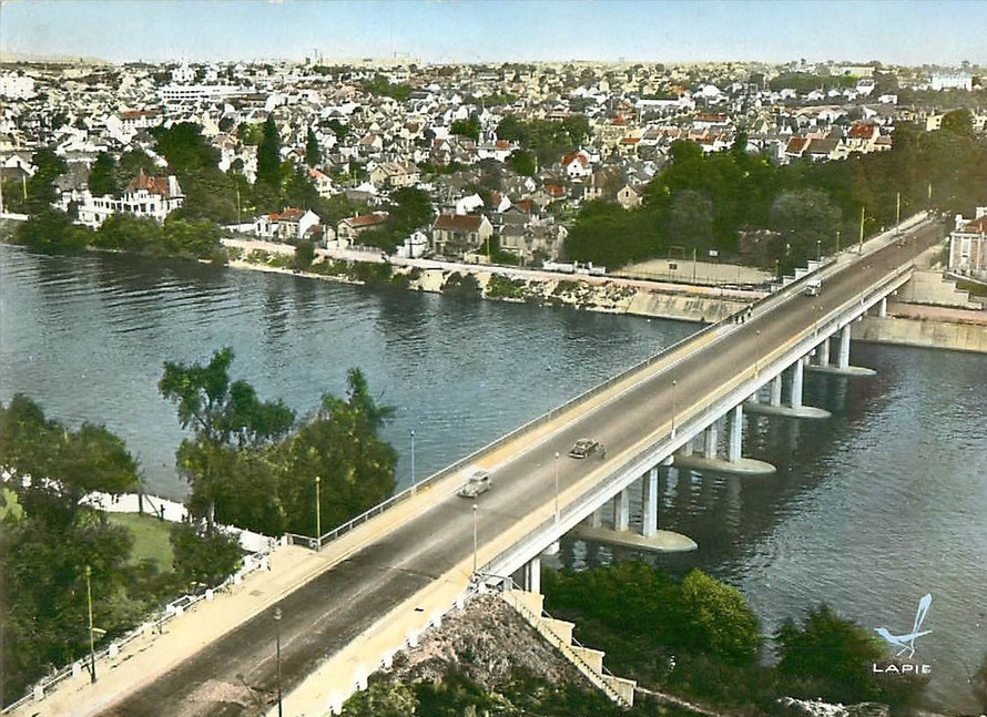 maisons-laffitte le pont sur la seine