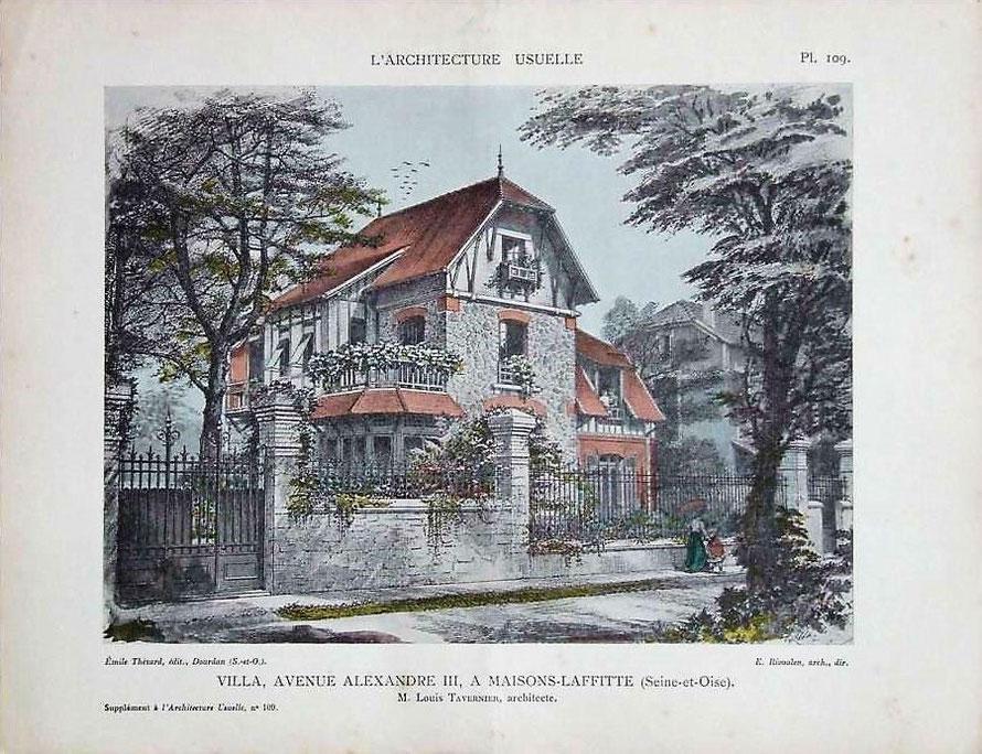 Maisons d'architectes au début du XXème à Maisons-Laffitte - Locations meublées à Maisons-Laffitte