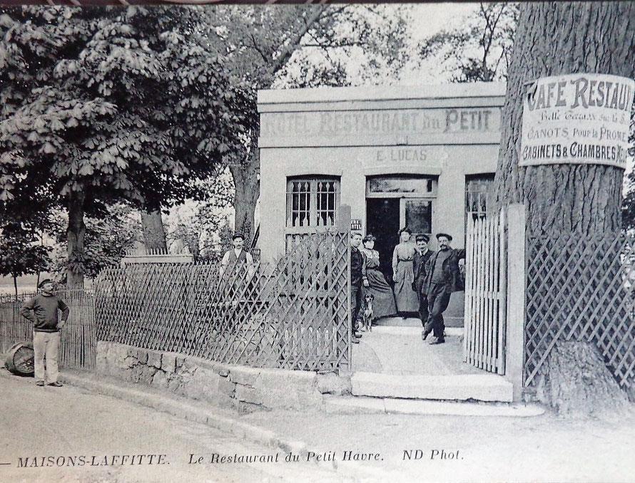 """le restaurant """"le petit havre"""" à maisons-laffitte"""