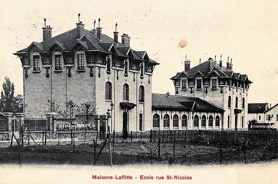 Ecoles rue Saint Nicolas à Maiosns-Laffitte