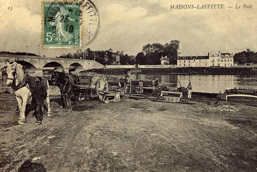 maisons-laffitte le port en 1910