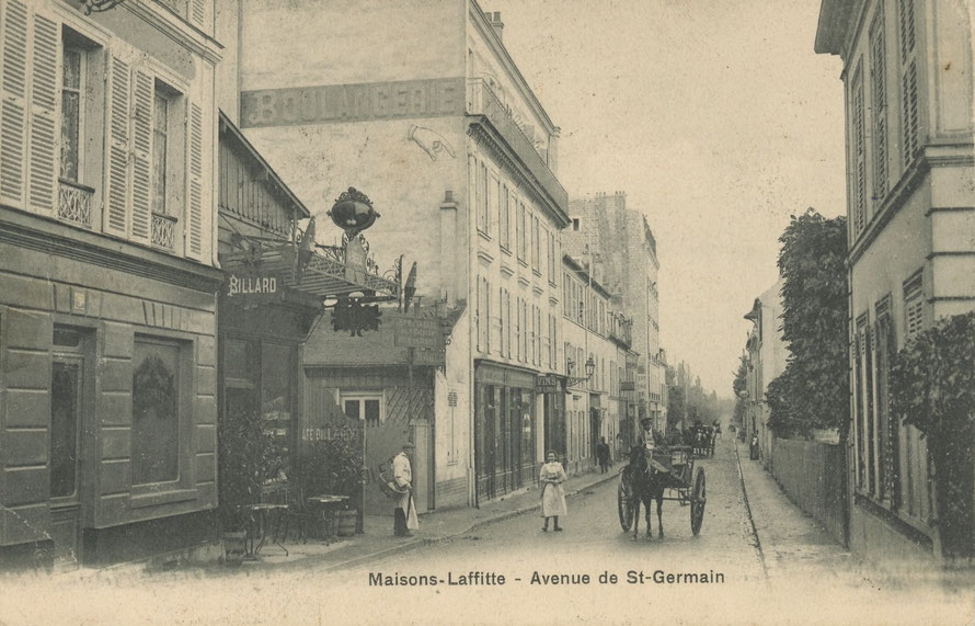 Maisons-Laffitte avenue de Saint Germain en 1907