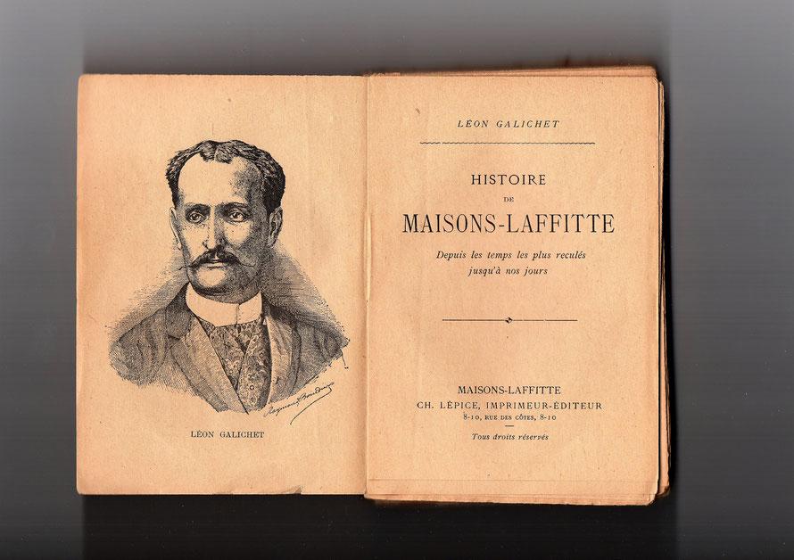 Page de garde de l'histoire de Maisons-Laffitte publié en 1982 par Léon Galichet