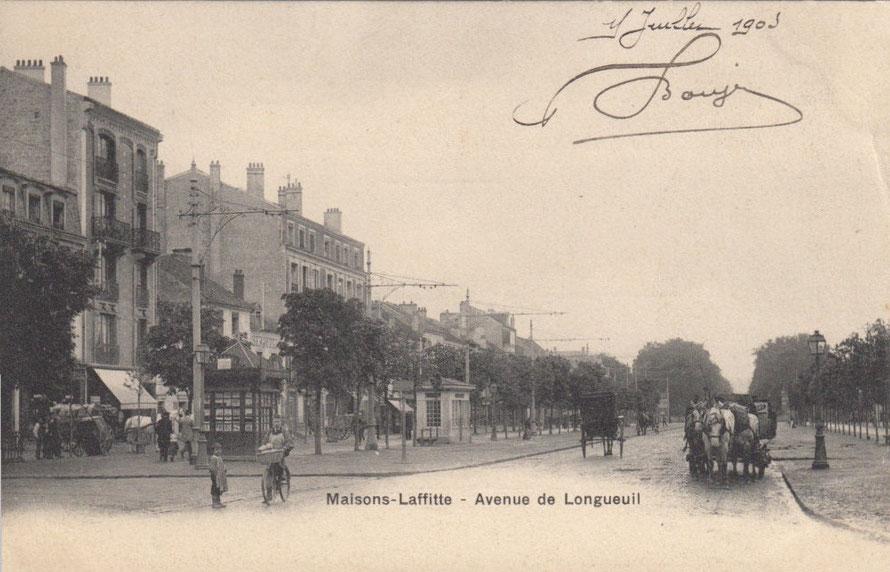 maisons-laffitte avenue de longueil en 1905