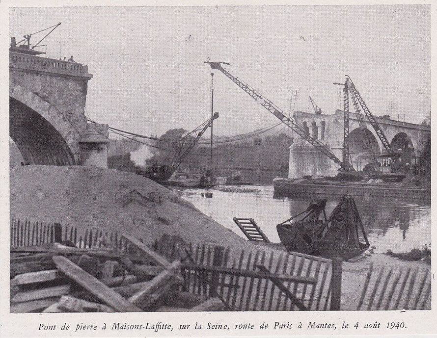 maisons-laffitte pont détruit en 1940