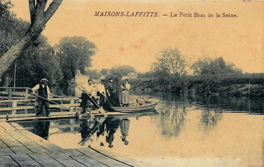 maisons-laffitte petit bras de seine en 1916