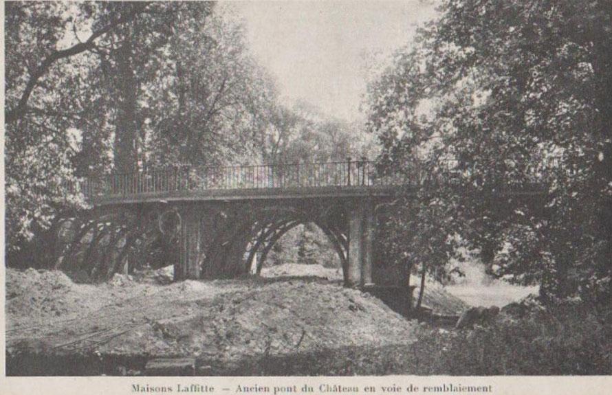 Remblaiment de l'ancien pont du chateau de maisons-laffitte