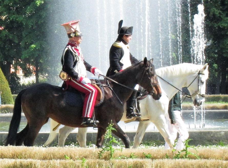 maisons-laffitte l'empereur napoleon premier dans le parc du chateau