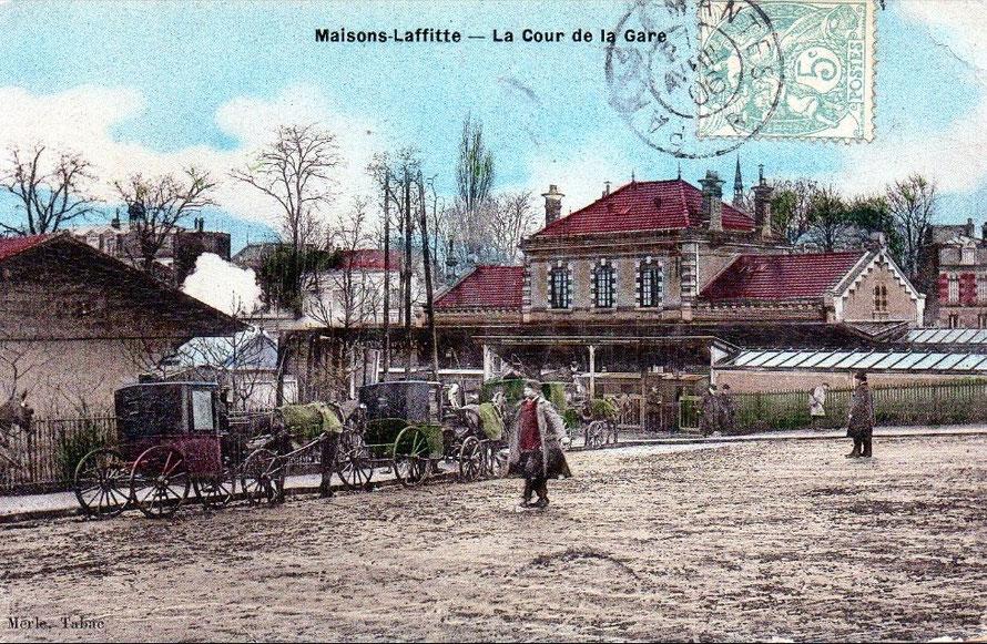 maisons-laffitte gare en 1906