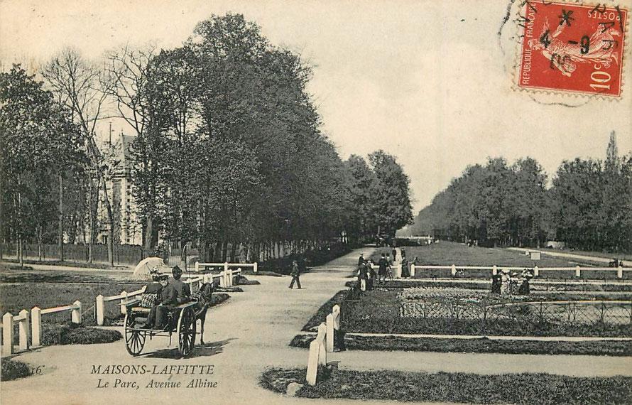 Maisons-Laffitte, avenue Albine en 1900