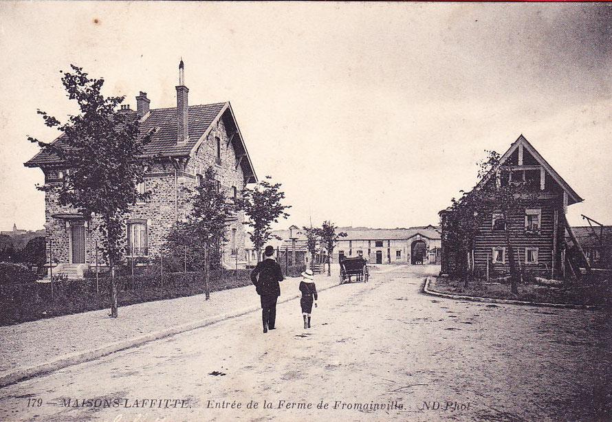 La ferme de Fromainville derrière le parc de Maisons-Laffitte