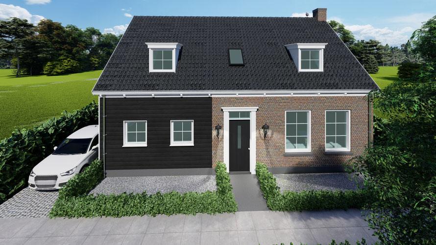 3D ontwerp vrijstaande woning Wolphaartsdijk