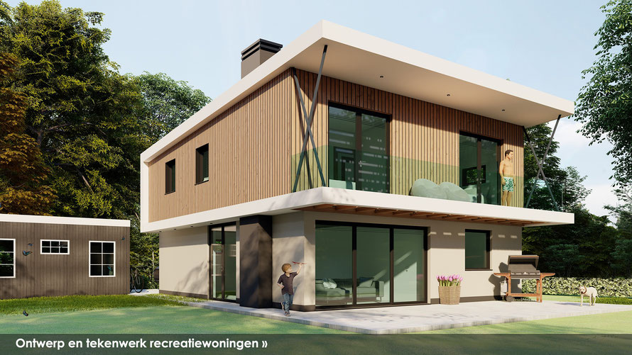 3D ontwerp vrijstaande woning in Zeeuwse stijl te Wolphaartsdijk