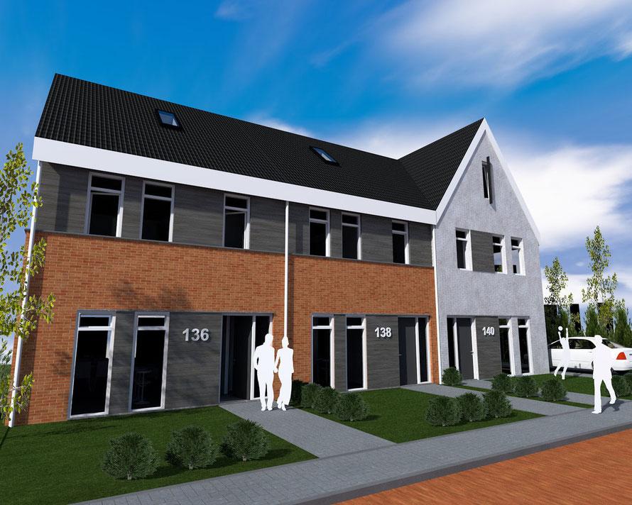 3D ontwerp woningen Middelburg