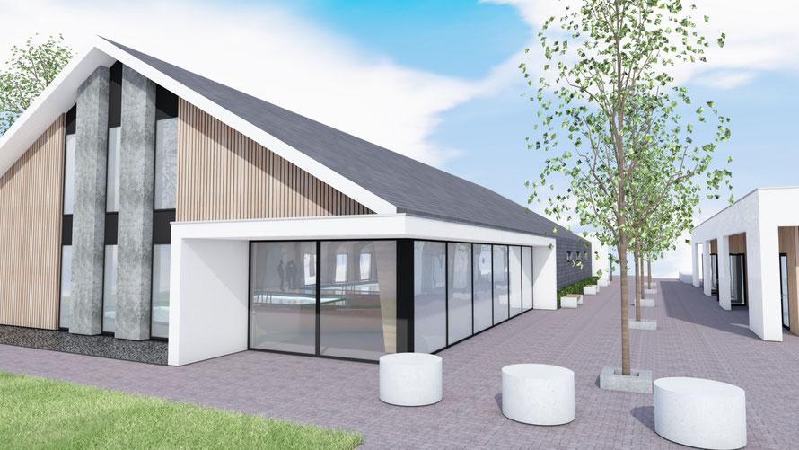 3D ontwerp zwembad en promenade camping Scheldeoord